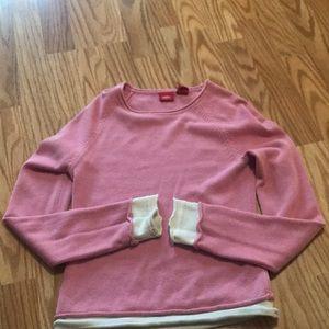 Medium pink and white sweater